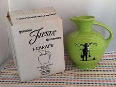 Fiesta Retired Chartreuse Moonshine 60 oz Carafe - Fiestaware HLC Pitcher NIB #Fiestaware