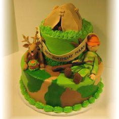 Hunting cake. Cute idea
