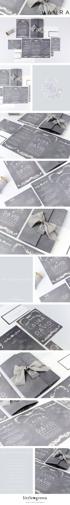 Wedding Invitations - THE LAURA COLLECTION from The Little Green Studio