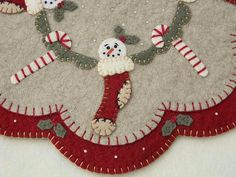 Christmas Stockings Penny Rug/Candle Mat pdf by pennylaneprims