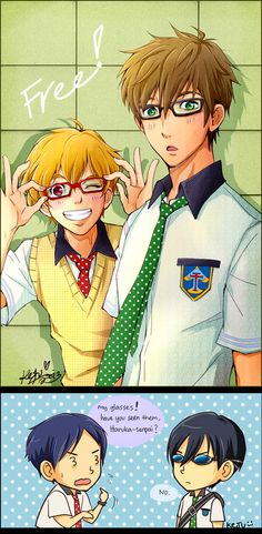 Free! Iwatobi Swim Club - Nagisa and Makoto by *Kaira-Hiwatari on deviantART