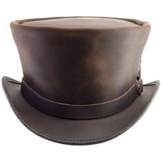 2cfd7a6d770 Coachman Leather Bell-Flare Top Hat Steampunk Top Hat