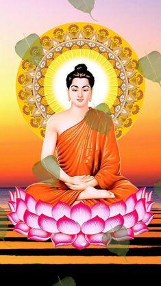 Buddha Drawing, Buddha Painting, Buddhism Wallpaper, S Love Images, Buddha Wall Art, Buddha Garden, Buddha Temple, Tibetan Art, Gautama Buddha