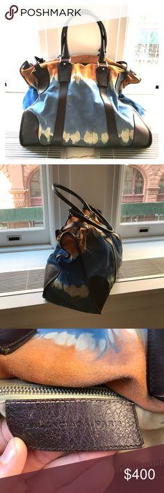 Balenciaga City/Travel Bag - tie dye from runway Gorgeous suede tie dye (super rare) Balenciaga runway bag. Perfect for City bag or small weekend bag. Balenciaga Bags Travel Bags