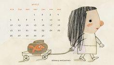 manon gauthier: calendrier avril / April calendar