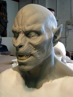 Sculpture for one of the Lycan mid-transformation make-up appliances.