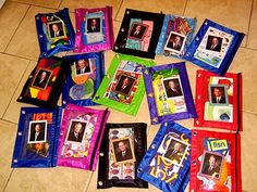 Activity Bags - Pencil Pouches - This is such a stinkin cute idea it just kills me that my kids are getting older!