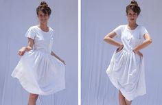 20 OFF SALE E v e r y D a y White Cotton T Shirt by KarniKadan, $109.00