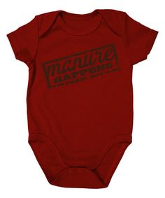 Another great find on #zulily! Red 'Manure Happens' Bodysuit - Infant by Farm Boy #zulilyfinds
