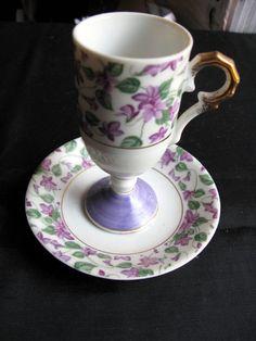 Demitasse Teacup Saucer Set Inarco Tea cup by VintagebyTeresa