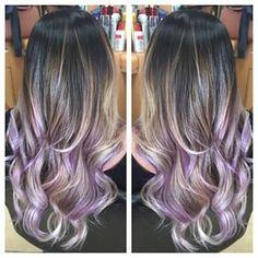 Lavender hair balayage