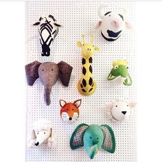Scandi Chic Fiona Walker Felt Animal Heads For The Kids Room Interiors Www Mini