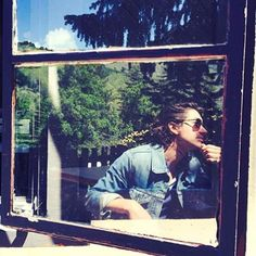 """taylorbagleys: """" Taylor: my favorite person caught on a window's reflection in my favorite place, Big Sur """" Alex Turner - photo by Taylor Bagley Alex Turner, Taylor Bagley, Cool Photos, Beautiful Pictures, Music Genius, Cool Fire, Monkey 3, The Last Shadow Puppets, Arctic Monkeys"""