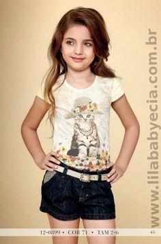 Conjunto Jeans Infantil Diforini Moda Infanto Juvenil