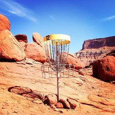 averyjenkins:  The Base Camp Adventure Lodge Disc Golf Course in Moab, UT! Some say that it's the most Extreme Disc Golf Course that they ha...