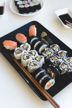 Think Food, I Love Food, Good Food, Yummy Food, Homemade Sushi, Fast Food, Food Goals, Aesthetic Food, Cute Food