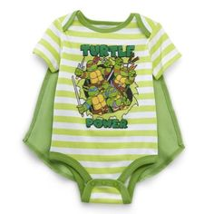 Nickelodeon Baby Boy's Teenage Mutant Ninja Turtles Onesie with Cape - Green 6-9M