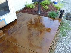 With a second coat of acid stain: South County Acid Stain - AADC STL - Picasa Web Albums