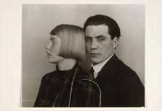 The Architect Hans Heinz Lüttgen and his wife Dora Lüttgen, by  August Sander 1926-28 Gelatin Silver Print