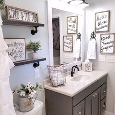 How adorable is @blessed ranch 's powder room??