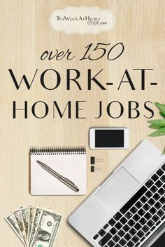 HUGE list of work at home jobs - everything from writing to customer service to social media management and more.