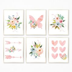 Add the finishing touches to your own decor or surprise a friend with a sweet print set by Peanut Prints Boutique ☺ ►Please note that no physical product will be shipped to you.◄ You are purchasing an INSTANT DOWNLOAD OF 6 high resolution JPEG files, sized 8x10 for home