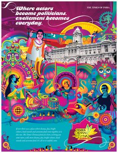 Print ad - Chennai festival Times of India Festival Logo, Festival Posters, Mobile Stickers, India Poster, Indian Illustration, Indie Art, Indian Art Paintings, Truck Art, Indian Festivals