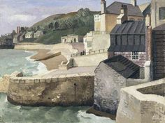 From the Old Walls, Lyme Regis Richard Ernst Eurich Manchester Art Gallery Landscape Art, Landscape Paintings, Landscapes, Manchester Art, Lyme Regis, City Gallery, Old Wall, Coastal Art, Art Uk