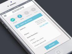 Order Screen #mobile #e-commerce #checkout
