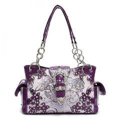 Butterfly Print Concealed Carry Handbag – Handbag Addict.com