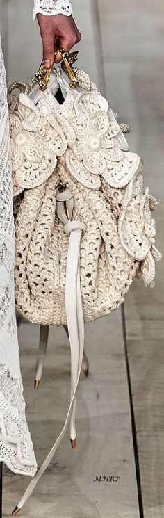 Alexander McQueen 2020 Spring - Reality Worlds Tactical Gear Dark Art Relationship Goals Crochet Shoes, Love Crochet, Fashion Bags, Boho Fashion, Womens Fashion, Alexander Mcqueen, Boho Bags, Crochet Handbags, Knitting Accessories