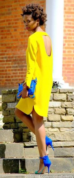 Street Style   Yellow and Blue Style