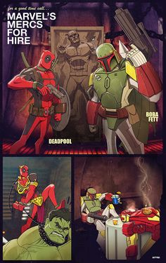 Marvel Mercs (Deadpool & Boba Fett) by Marco D'Alfonso