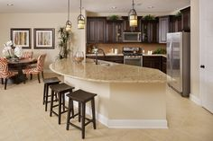 New Homes in Porter, TX - Brookwood Forest Landing Plan 2932 Kitchen as modeled at Canterbury Park