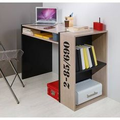 Don't Miss These Deal Dodd Shipping Writing Desk By Ebern Designs Black Office Furniture, Business Furniture, Cubes, Computer Desk With Hutch, Solid Wood Desk, Student Desks, Adjustable Height Desk, L Shaped Desk, Home Entertainment