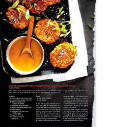carrot and brown rice nuggets recipe from graul's real food summer 2014