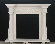 LARGE CARVED MARBLE ESTATE FIREPLACE MANTEL WITH AN OVER MANTEL - DSFP21 #fromeuropetoyou Marble Fireplace Mantel, Marble Fireplaces, Fireplace Mantels, Carving, Ebay, Home Decor, Decoration Home, Room Decor, Wood Carvings
