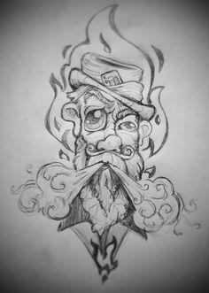 By John Schipp: Badass Drawings, Cool Art Drawings, Art Drawings Sketches, Cartoon Drawings, Cartoon Art, Trippy Drawings, Graffiti Drawing, Graffiti Art, Graffiti Cartoons