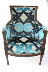 I got a chair in this exact fabric just a little  bit different chair style for the nursery! So fab! :)
