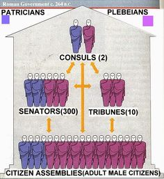 """the Romans elected two consuls with equal power. The consuls served for only one year and could not be reelected and held veto power over one another. The Senate advised the consuls. The consuls and senators came from the patrician """"order"""" – wealthy landowning families."""