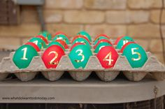 advent calendar cascarones