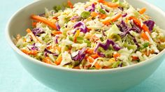 Asian Coleslaw - a dressing made from orange marmalade, rice vinegar, sesame oil, and ginger tossed with a bag of slaw mix is just too interesting not to try.