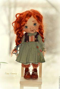 Коллекционные куклы ручной работы. Ярмарка Мастеров - ручная работа. Купить Амелия. Handmade. Зеленый, выкройка pdf, кукла на заказ