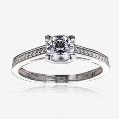 e051b1f9c6f Kirstie Real Sterling Silver DiamonFlash sup ®  sup  Cubic Zirconia ...