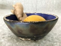 Why so cold and rainy? Have to prepare a magic healing potion to shoo away the germs. Little bowl from the Legend line, as blue as a bluecap from English folklore Serving Bowls, Healing, Cold, Ceramics, Tableware, Ceramica, Pottery, Dinnerware, Tablewares