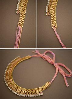 Galletita de Jengibre: DIY Collar con cadenas