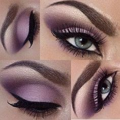 gorgeous soft purple #eyes #makeup