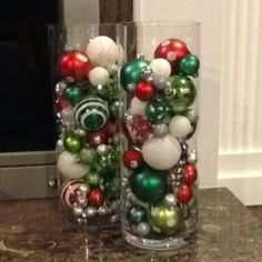 DIY Christmas decorations ; i think ill do this next xmas. after xmas this year ill stock up on extra ornaments!