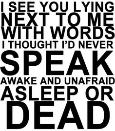 Famous Last Words played in my heart the whole time I stood at my daddy's funeral. I thought these words made sense to me until I got to that spot in my life and suddenly I just KNEW what Gerard was singing....because I was living it