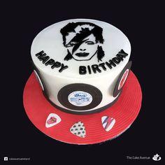 David Bowie theme birthday cake